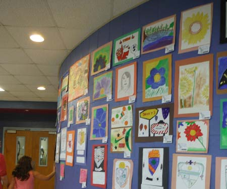 Visual Art and Art of the Word at J.E.T. Middle School