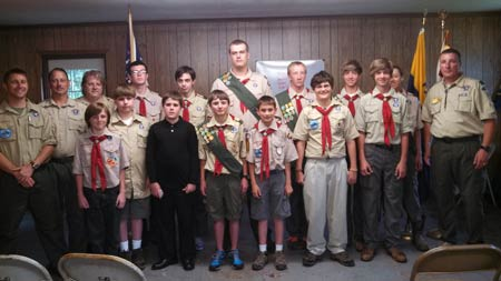 Scouts Hold Court of Honor and Bridging Ceremonies