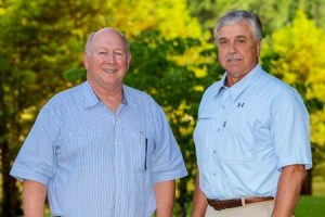 NWTF CEO George Thornton (left) welcomes Tom Stuckey (right) to the NWTF management team.