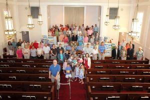 The Ridge Spring Congregation photographed during their response to a paper drive.