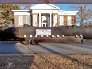 Replica of the H.L. Hunley, the first submarine to sink another vessel, will be in Edgefield, September 26 2014.