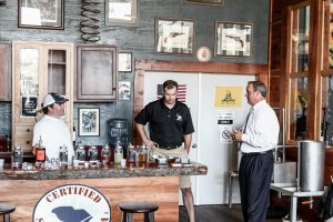 Congressman Jeff Duncan visiting Carolina Moon Distillery on the square in Edgefield.