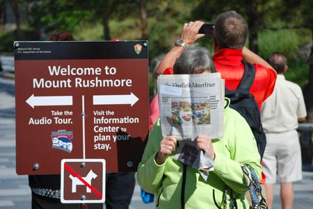 Read All Over – The Advertiser Goes to Mt. Rushmore
