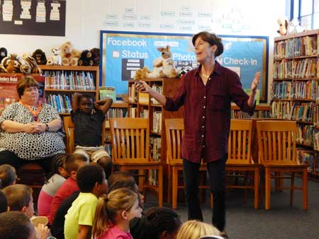 Author M. H. Herlong Visits RSM Elementary