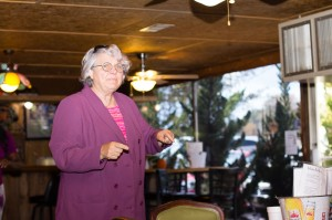 Barbara Jo Mullis, candidate for the 3rd S.C. District of the U.S. House of Representatives, at a campaign stop in Johnston, October 31.