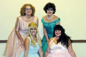 The Wonderettes (L to R) Caroline Bland, Mallory Reams, Cara Doolittle and Whitney McDonald, playing at the Wm. M. Bouknight Theatre in Edgefield this weekend.