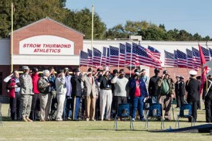 Edgefield County Veterans were saluted in a program held at Strom Thurmond High School on Tuesday morning, Veterans Day, November 11.