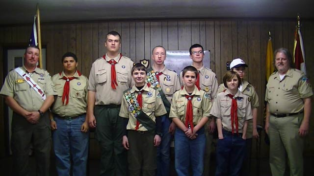 Scouts Hold Court of Honor