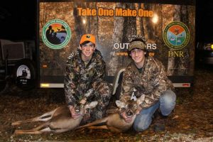 Youth hunters Jared (right) and Jeremiah (left) both were successful on the final NWTF/TOMO deer hunt of the season.