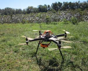 Clemson University's Joe Mari Maja received Federal Aviation Administration approval to fly this Unmanned Aerial Vehicle as part of his precision-agriculture research. Image Credit: Clemson University