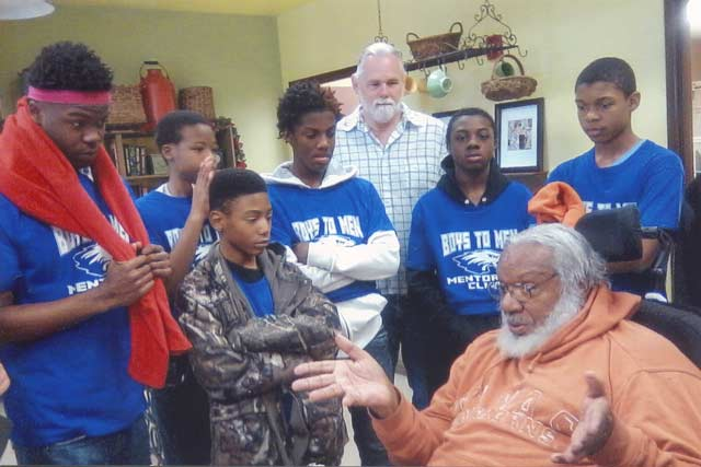 Boys to Men Club Visits Edgefield County Seniors