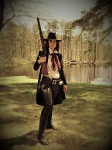 Tonya of the Turkey Creek Outlaws will by on the Square Saturday, April 18, 2015.