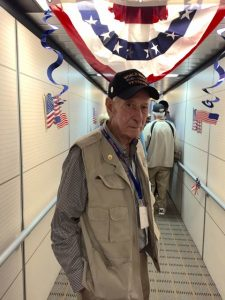 Dr. Jim Hawk as the Honor Flight began.