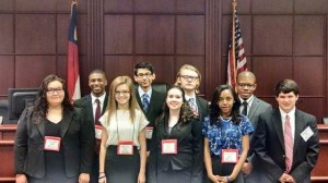 The Strom Thurmond Mock Trial Team in the national competition