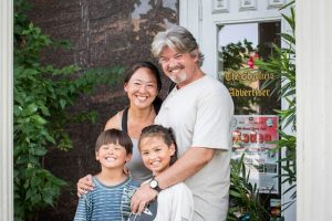 L to R: Orion, Eriko, Kai, and Rob Hirai on their recent visit to Edgefield, S.C.