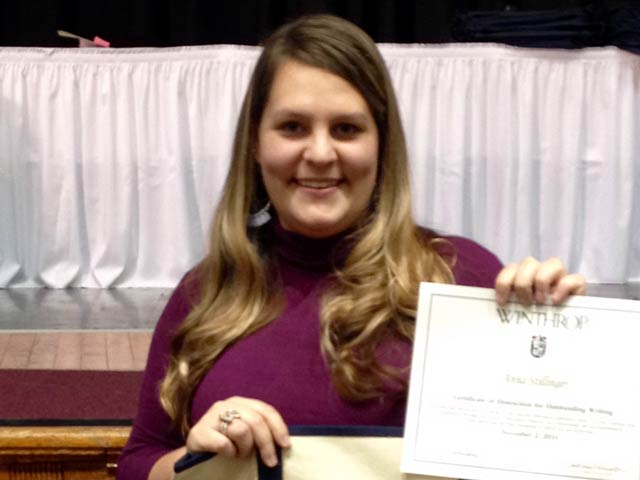 Stillinger Receives Scholastic Awards