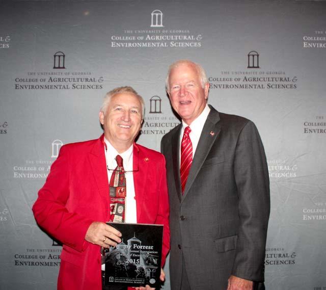 UGA Honors U.S. Sen. Saxby Chambliss, South CarolinaPeach Grower Jimmy Forrest