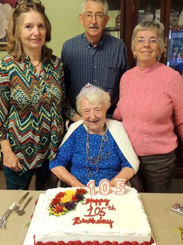 Cogburn Celebrates 105th Birthday
