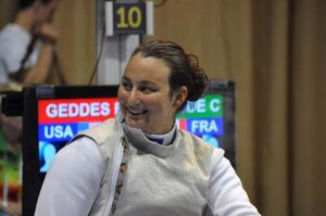 Ellen Geddes of Johnston won the gold medal in wheelchair fencing at the North American Cup