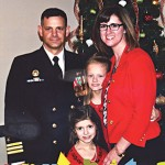 Commander Clark and family