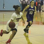 Lady Rebel Cynthia Sullivan scored 16 points against Saluda.