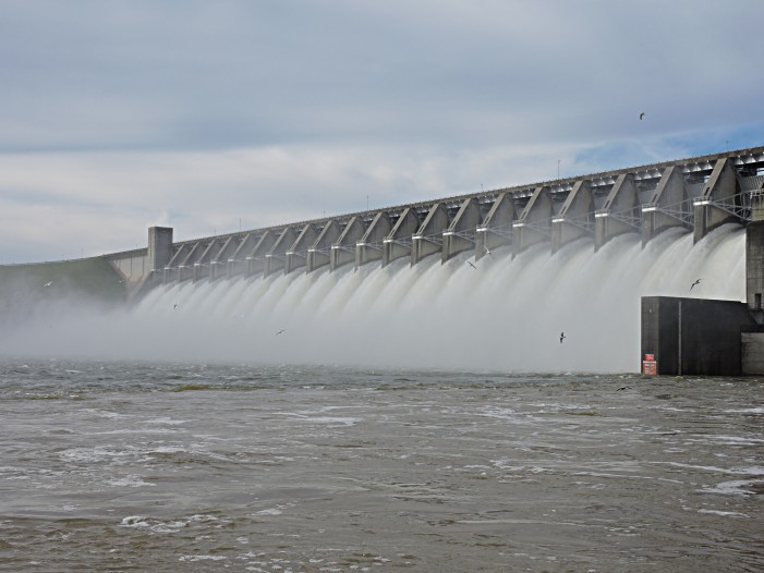 Scenes from the Dam at Strom Thurmond Lake
