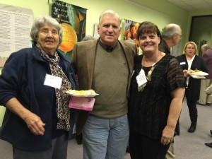 The social hour for the Ridge Association is a nice attraction. Ann Hughes and Walker and Suzanne Holmes