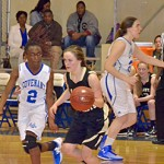 Beth Warnken (junior) drives against Covenant.. Photo/Courtesy of Michele DeLoach Satcher