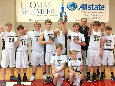Patriot Middle School Boys Win Region Title
