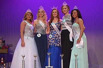 Winners in the Miss Statesman Pageant