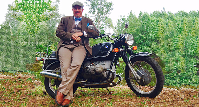 Sean Burch Rides as Gentleman in Fundraiser