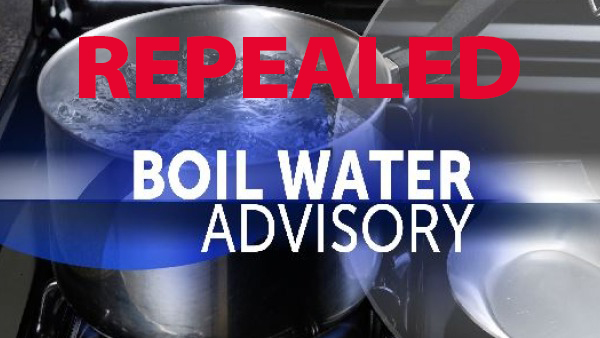 REPEAL OF THE BOIL WATER ADVISORY