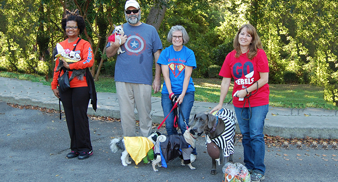 Costume Winners at the Saturday Dog Walk