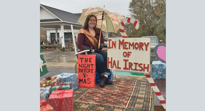 Christmas Parade: Poet Laureate Float Remembers Hal. . .