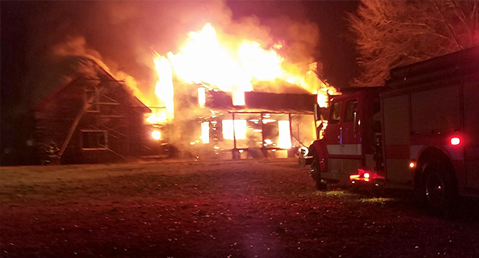 Prater Home Burns in Morning Fire