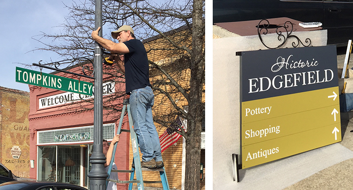 New Signs for Town of Edgefield