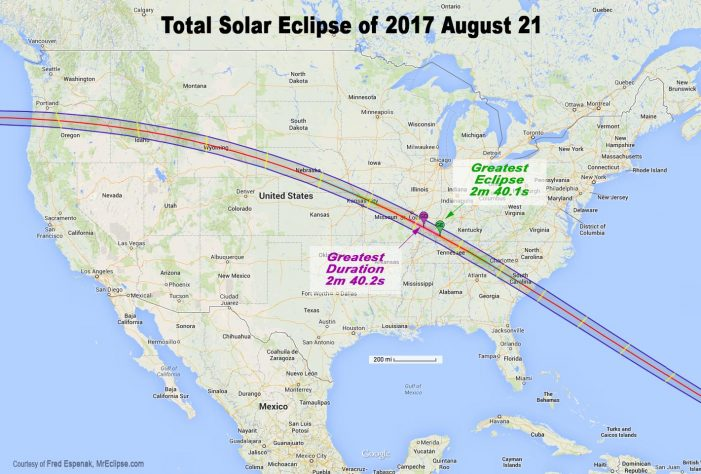 Greenwood / Edgefield in the Path of Rare Solar Eclipse