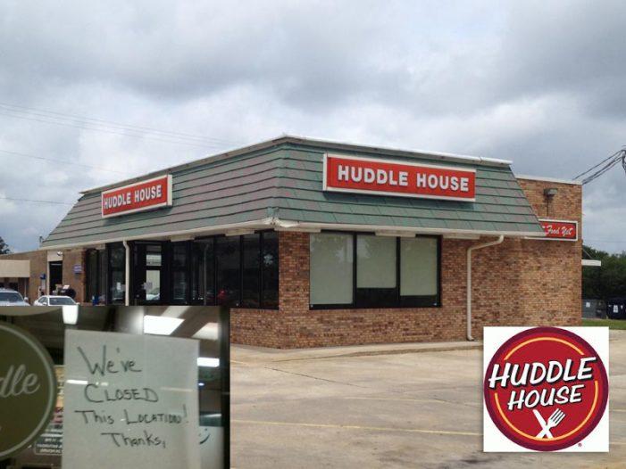 Huddle House in Edgefield Closes – Again [Updated Again]