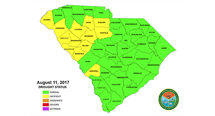 Summer rains eliminate drought status in five counties