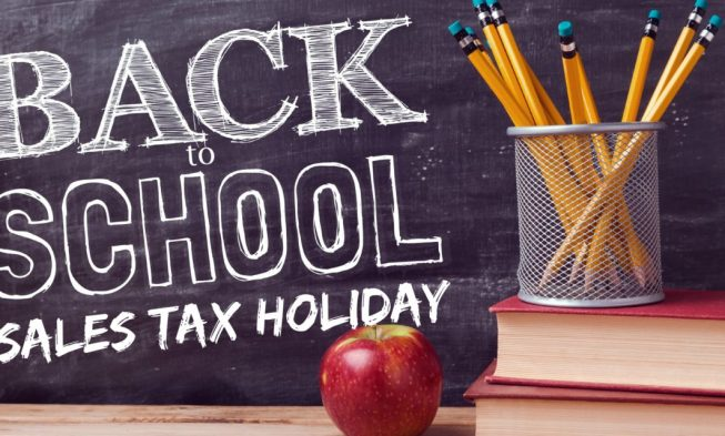 SALES TAX HOLIDAY KICKS OFF ON FRIDAY AUGUST 3