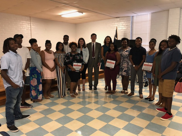 Youth Job Readiness Graduates Hear Sen. Massey