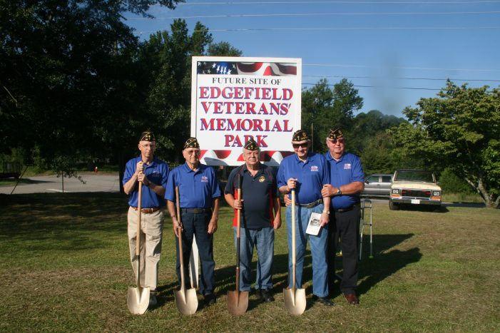 Edgefield Veterans' Memorial Park Underway