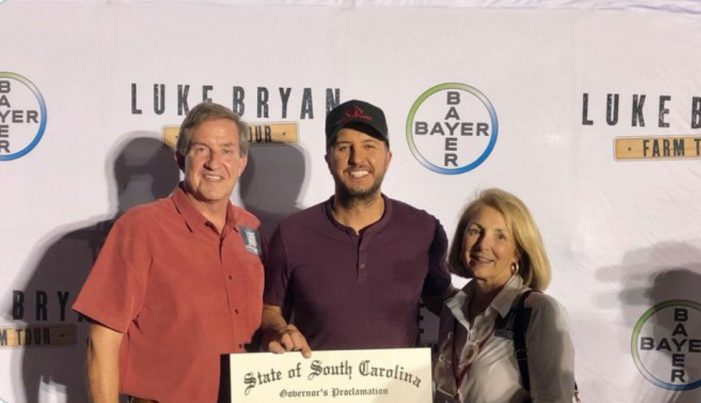 Over 10,000 visit Edgefield County to hear Luke Bryan!