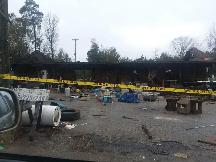 Early Morning Fire Destroys Former Gas Station