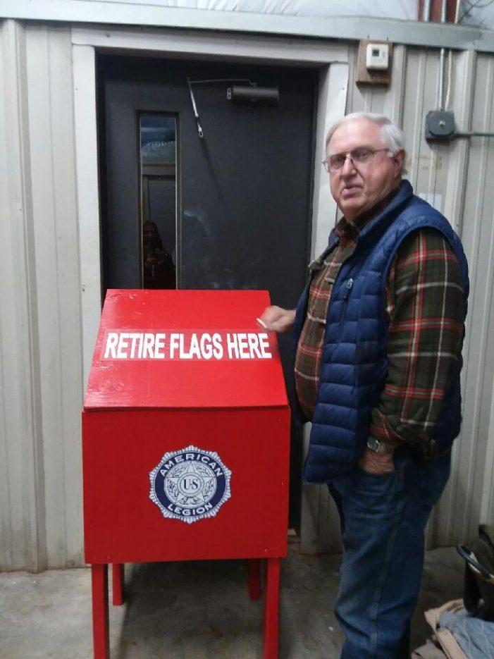 Retiring of Flags  in Trenton