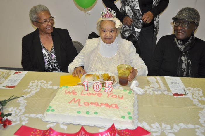 Mattie Mae Williams honored at the age of 105