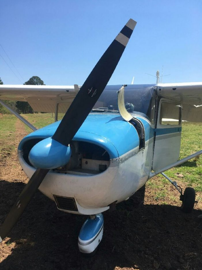 Plane Makes Emergency Landing in Field