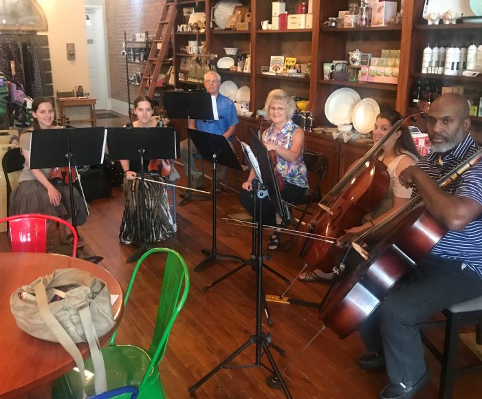 Playing Strings at the Edgefield General Store