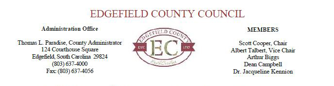 EDGEFIELD COUNTY COUNCIL